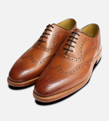 Oliver Sweeney Shoes Dark Tan Oxford Brogues