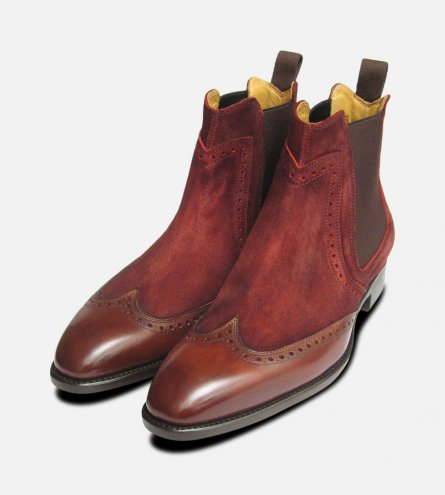 Conquer Two Tone Rustic Wine Carlos Santos Shoes