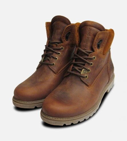 Gore Tex Panama Jack Brown Waxy Waterproof Boots