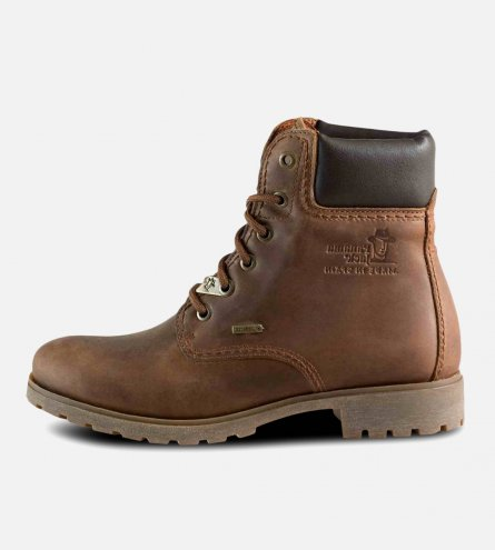 Panama Jack 03 Ladies Brown Waxy Waterproof Boots
