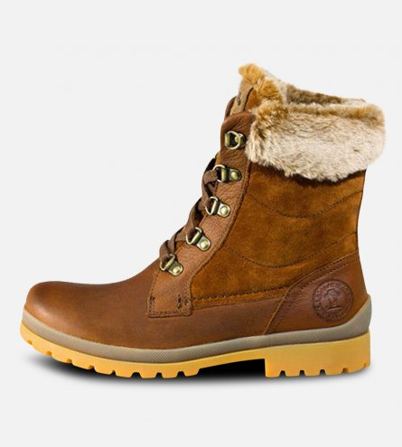 Womens Tuscani B1 Tan Leather Panama Jack Fur Boots