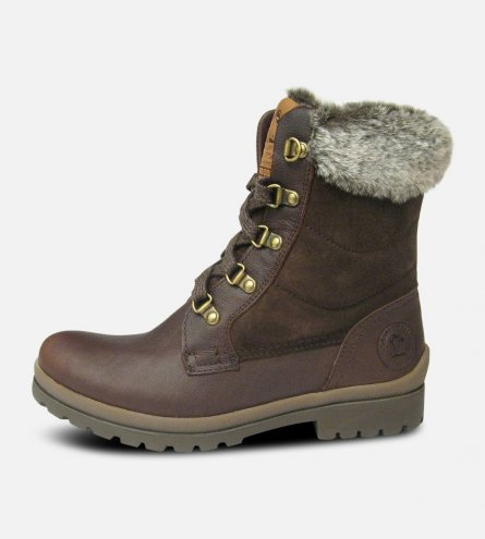 Ladies Tuscani B2 Dark Brown Hanava Joe Fur Boots