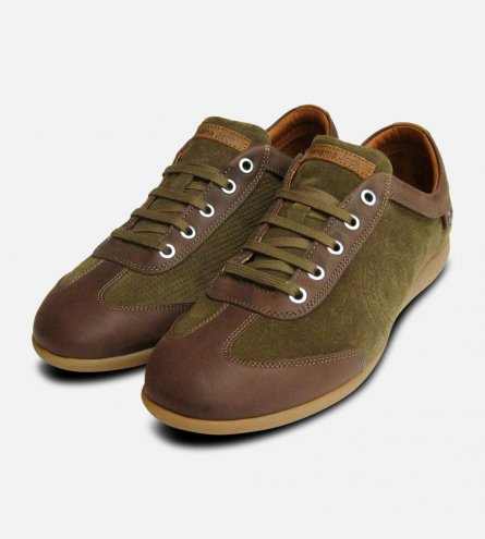 Panama Jack Trainers Norwell Moss Brown Sneakers