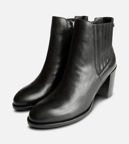 Heeled Tommy Hilfiger Side Zip Black Penelope Boot