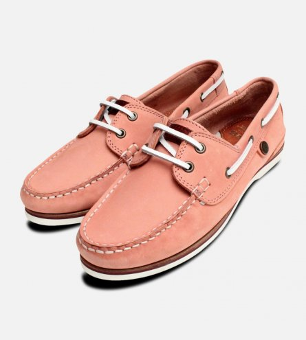 Pink Nubuck Ladies Barbour Bowline Boat Shoes