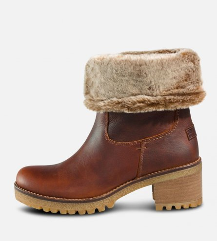 Ladies Panama Jack Chestnut Brown Fur Piola Boots