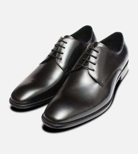 Formal Black Mens John White Lace Shoes