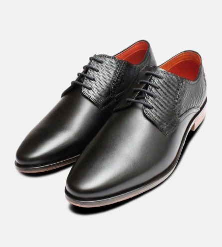 Black Formal Pointed Mens Shoes by Bugatti