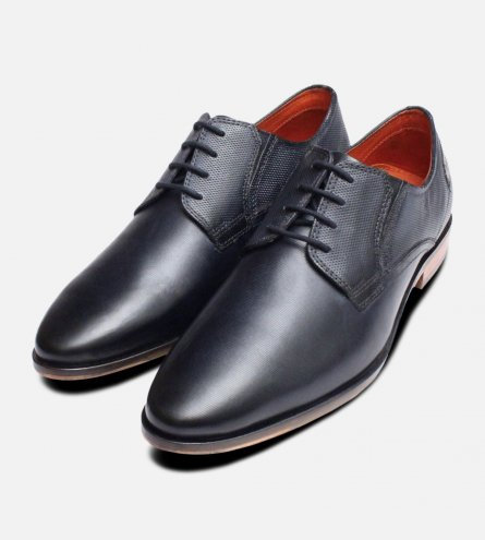 Navy Blue Formal Pointed Bugatti Shoes