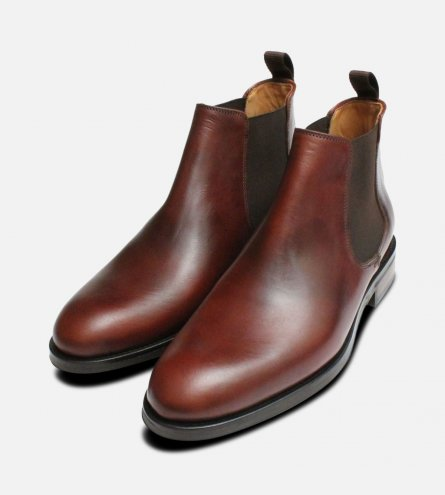 Waxy Brown John White Chelsea Boots