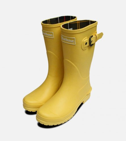 Yellow Barbour Short Wellington Primrose Boots