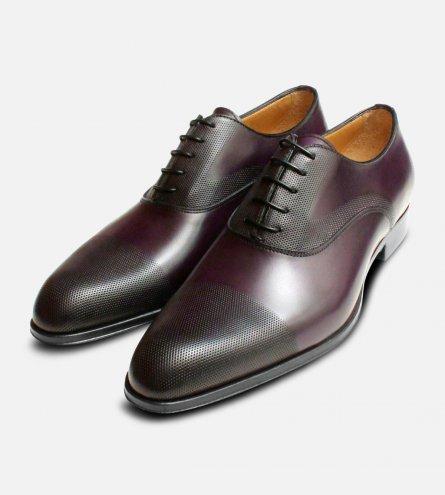 Executive Dark Aubergine Purple Oxford Shoes