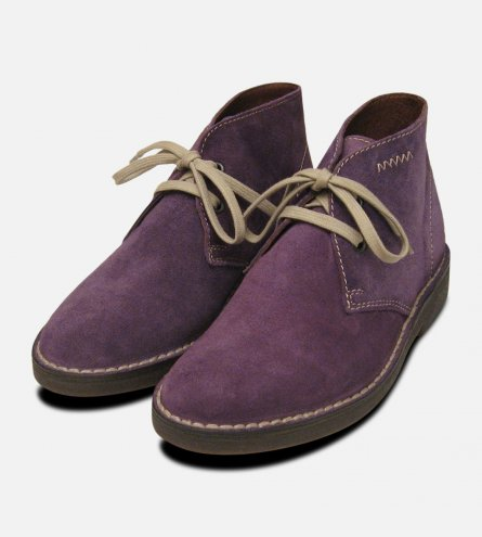 Lilac Suede Womens Italian Arthur Knight Desert Boots