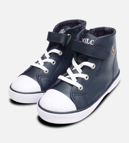 Ralph Lauren Polo Navy Blue Koni Toddler High Top