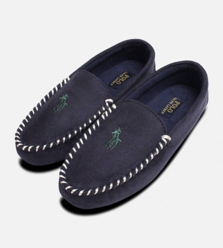 Ralph Lauren Polo Dezi 3 Navy Blue Mens Slippers