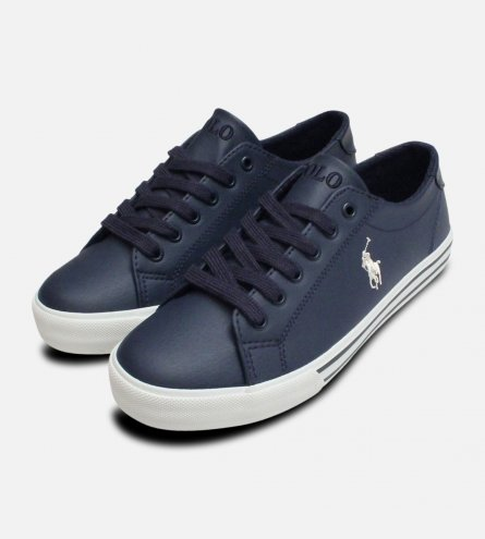 Navy Blue Ralph Lauren Polo Junior Slater Trainers