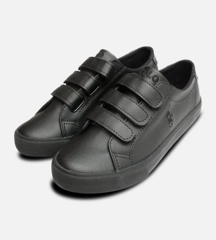 Black Ralph Lauren Polo Slater EZ School Shoes