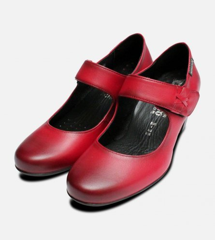 Mephisto Madisson Mary Jane Shoes in Red