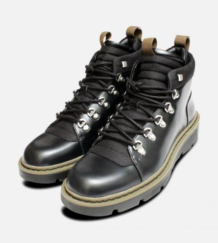 Exclusive Calvin Klein Mens Black Cargo Boots