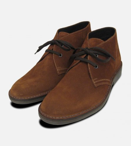 Brown Suede Prince Harry Siena Desert Boots
