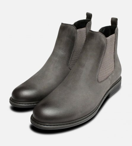 Dark Grey Ladies Slip On Chelsea Boots by Tamaris