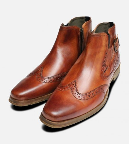 Regent Demi Boots in Antique Tan by Bugatti Shoes