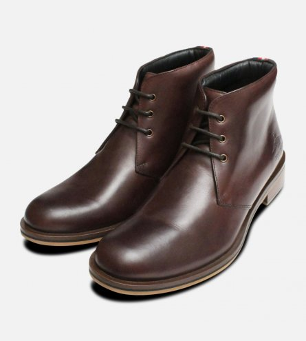 Thomas Partridge Mens Brown Digby Chukka Boots