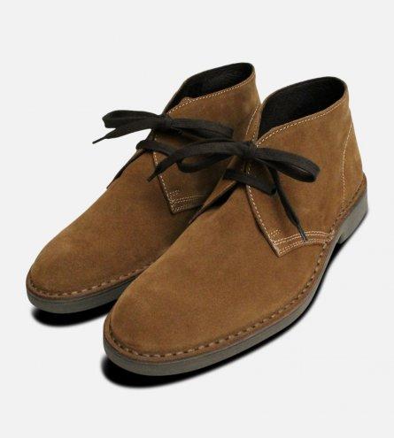 Siena 2 Brown Suede Mens Italian Desert Boots