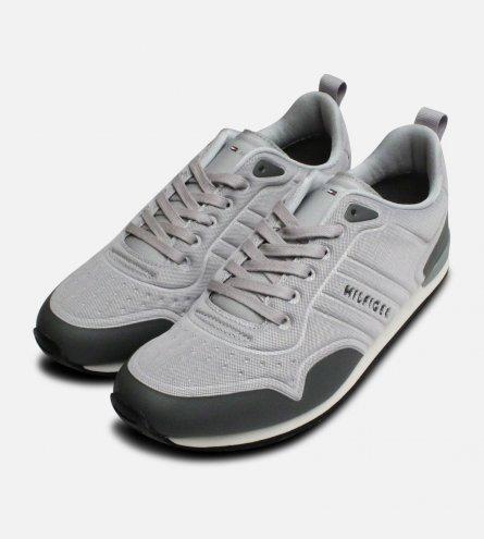 Light Grey Tommy Hilfiger Neoprene Designer Trainers