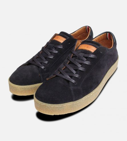 Tommy Hilfiger Luxury Navy Blue Suede Casual Shoes