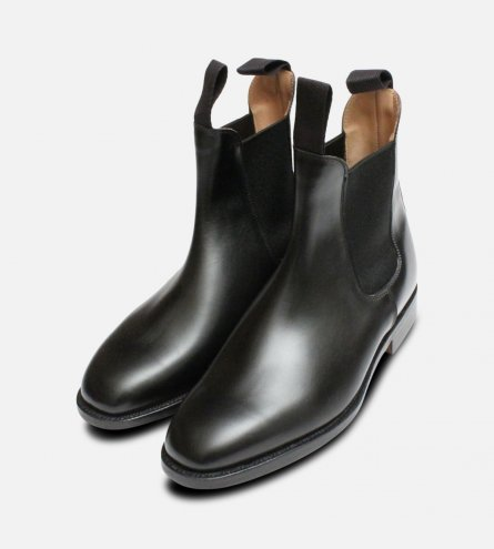 Trickers Black Ladies Lily Elastic Chelsea Boots