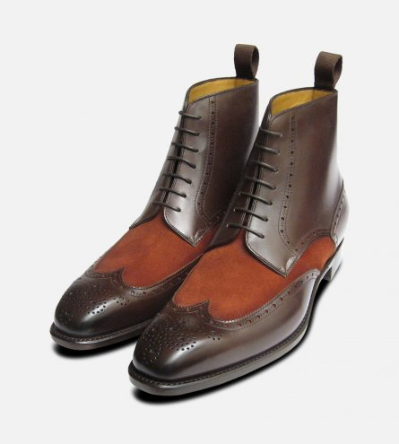 Carlos Santos Brown Laceup Boot