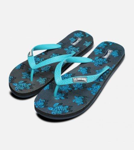 Vilebrequin Designer Turquoise Flip Flops