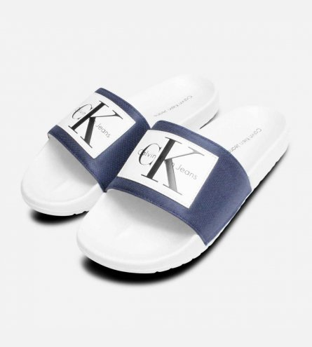 Calvin Klein Jeans Vital Steel Blue Pool Sliders