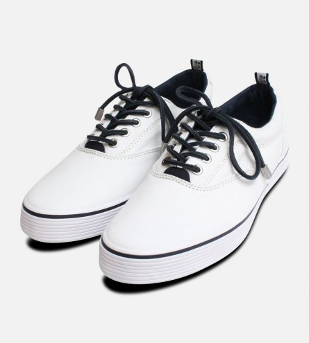 Vilebrequin Mens White Atoll Cupsole Shoes