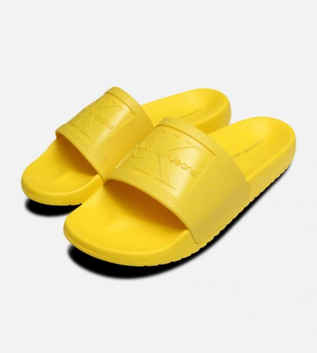 Yellow Jelly Calvin Klein Sandals Christie Slides