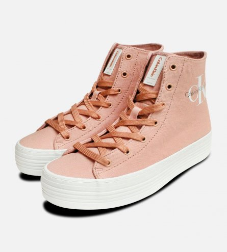 Light Pink Canvas Chunky Calvin Klein Zabrina Hi Tops