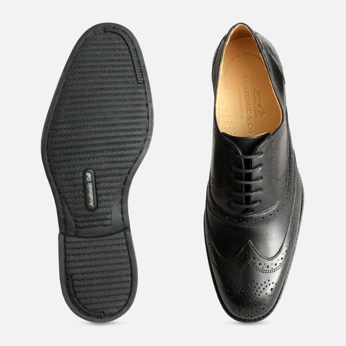 Formal Black Wingtip Oxford Brogues by Anatomic & Co