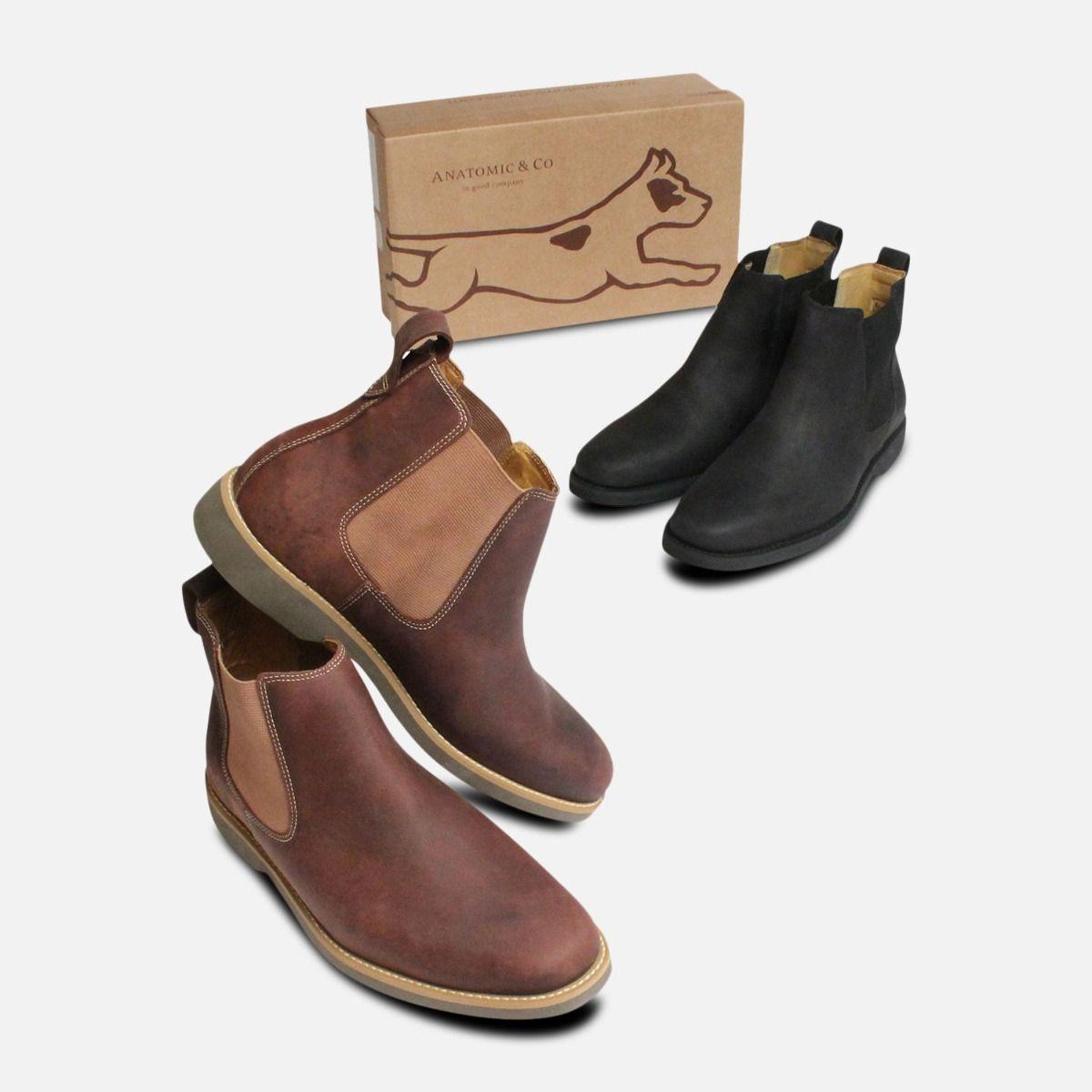 Matt Black Mustang Chelsea Boots Anatomic & Co