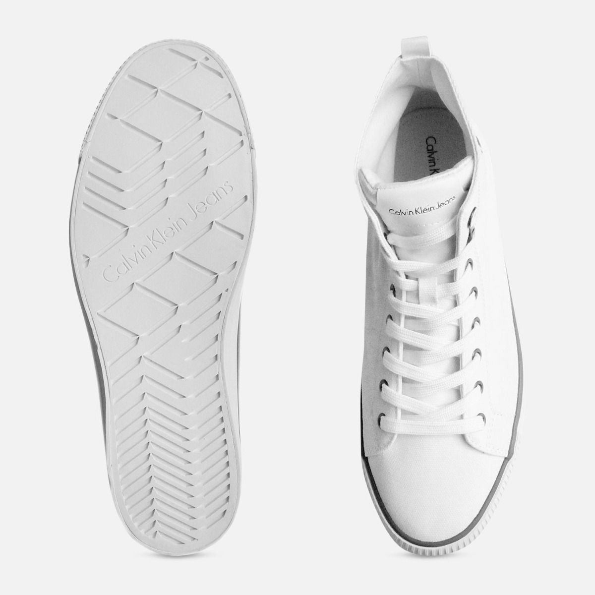White Canvas Arthur Hi Tops by Calvin Klein Sneakers