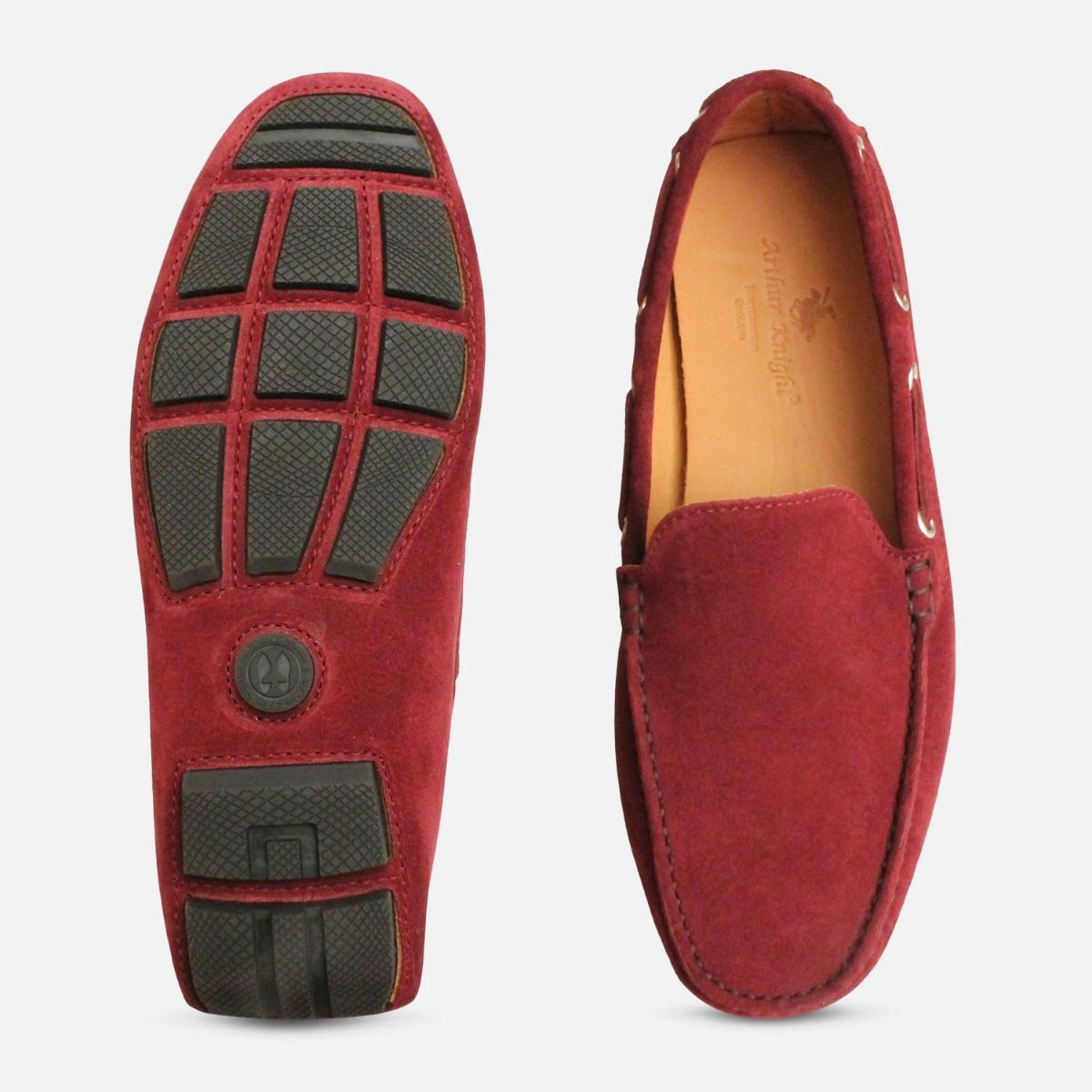 Aubergine Velour Suede Driving Shoe Moccasins