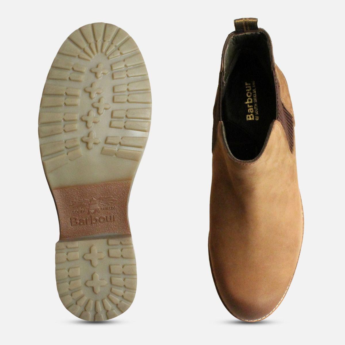 166f628821c Cognac Brown Barbour Abigail Slip On Chelsea Boots
