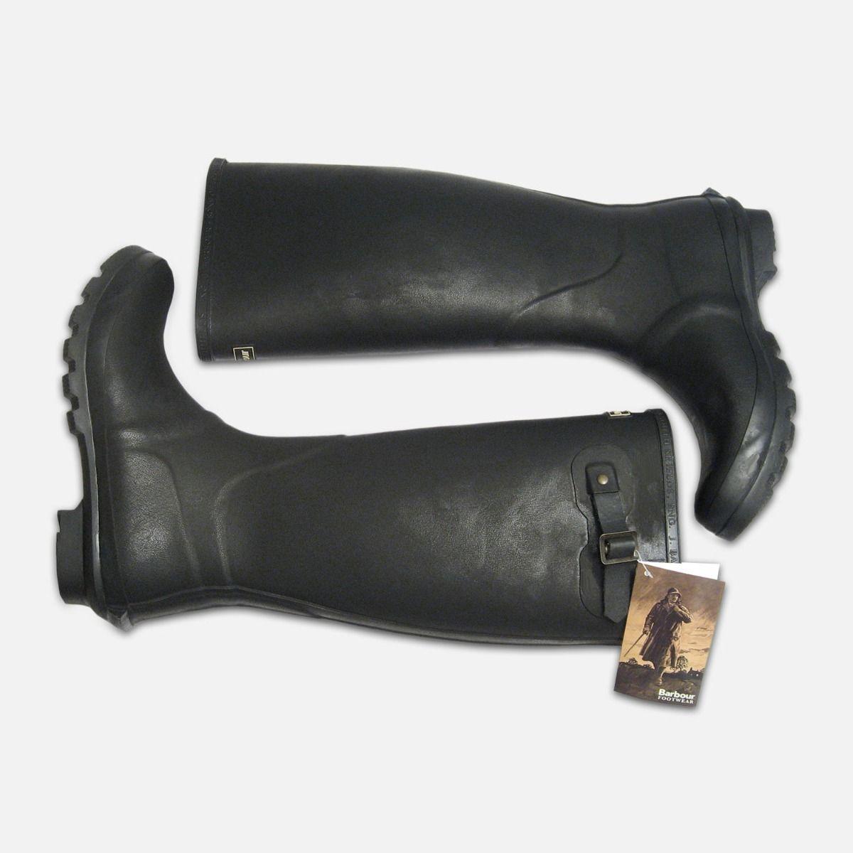 Barbour Mens Bede Black Waterproof Wellington Boots