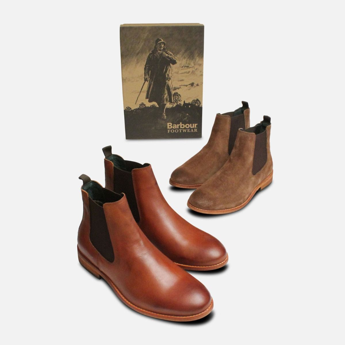 Barbour Antique Cognac Bedlington Chelsea Boots