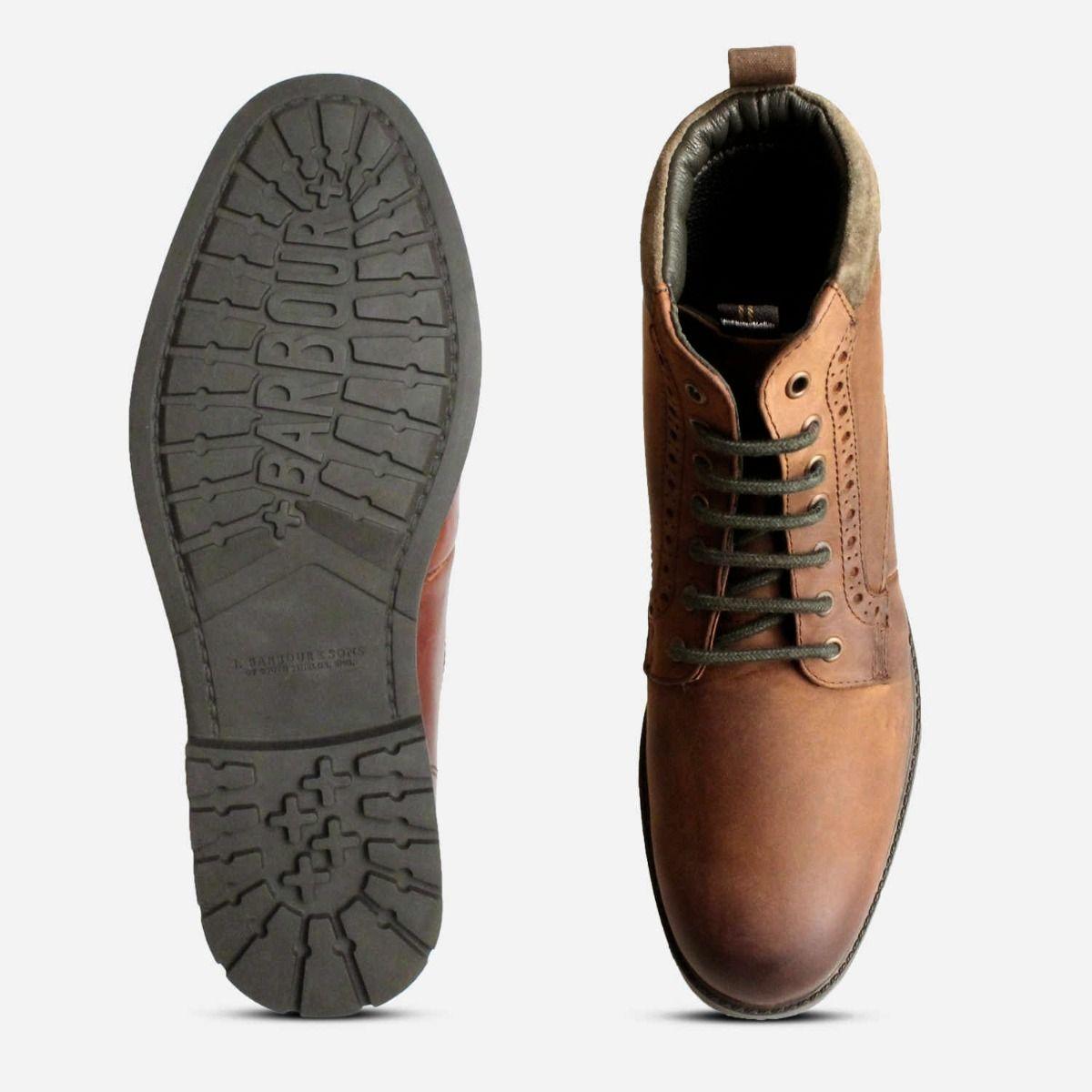 Barbour Hury Water Resistant Dark Brown Walking Boot