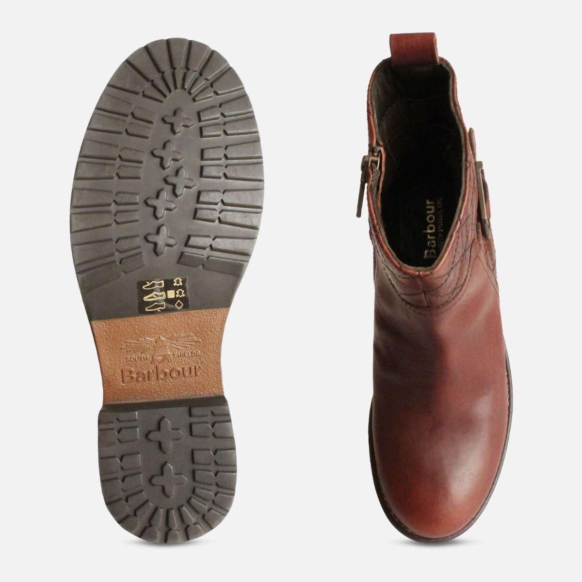 New Chestnut Ladies Lambeth Barbour Zip Boots