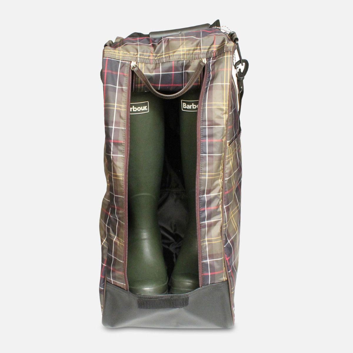 Barbour Classic Tartan Waterproof Wellington Boot Bag