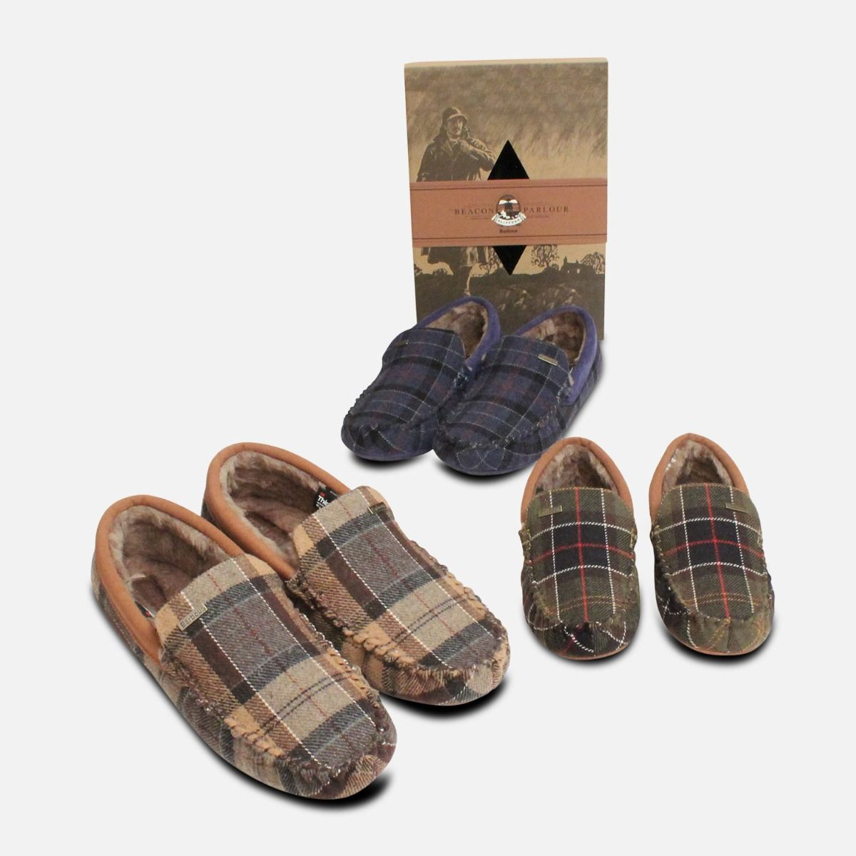 Barbour Monty Thinsulate Classic Tartan Slippers