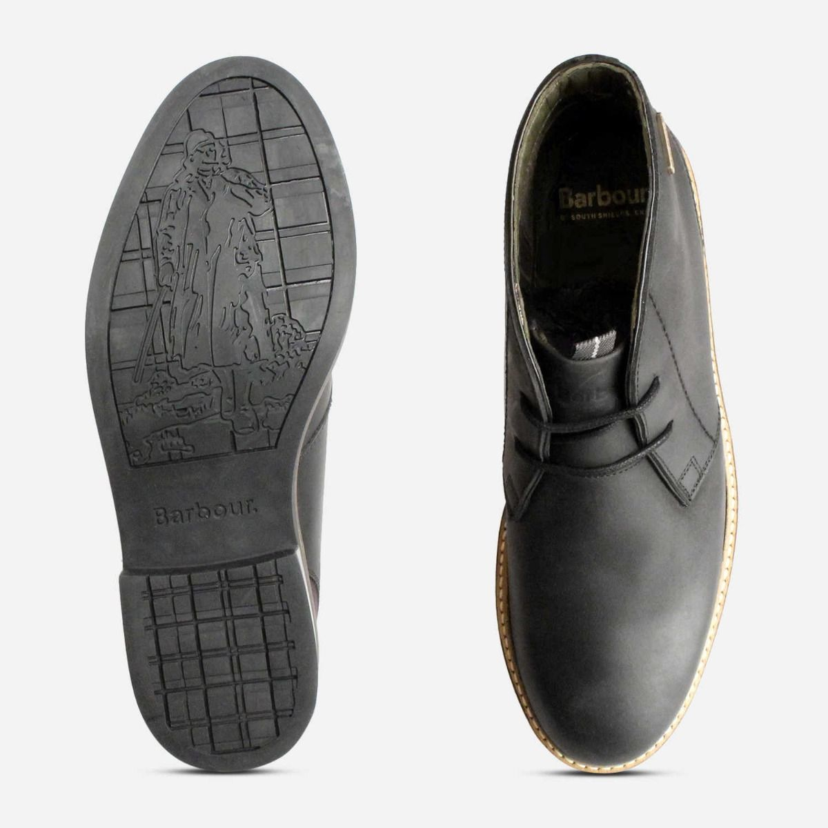 Barbour Readhead Black Mens Lace Up Chukka Boots