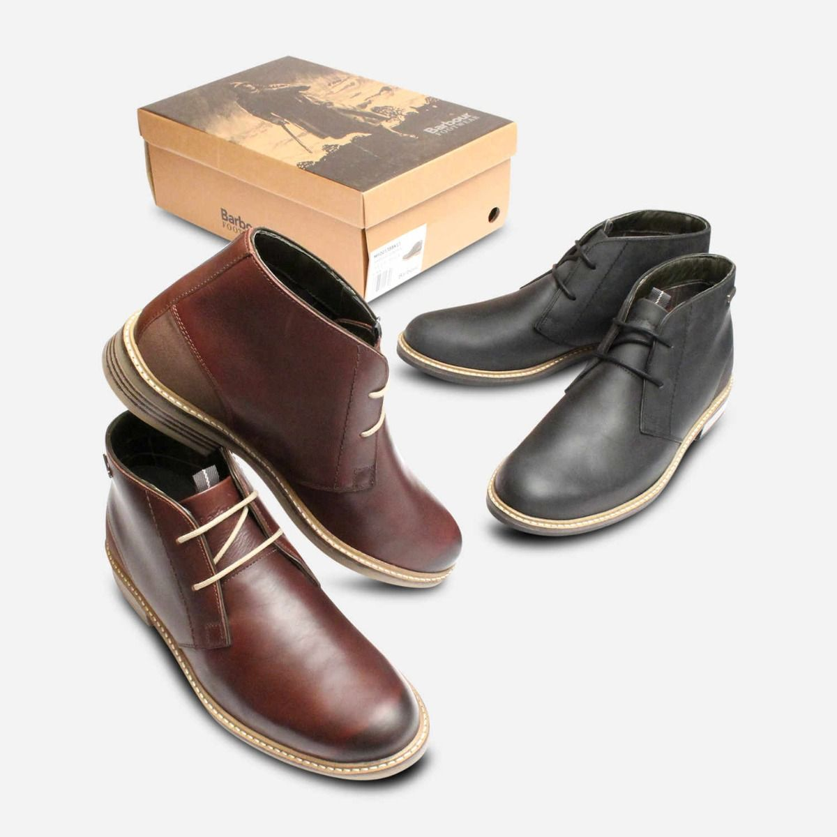 Barbour Readhead Waxy Dark Brown Mens Lace Up Boot